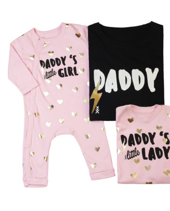 T-Shirt Combo Daddy - Daddys Little Lady - Daddys Little Girl