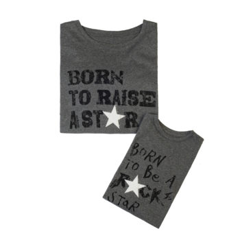 T-Shirt Combo Born To Raise A Star - Born To Be A Rock Star Kids