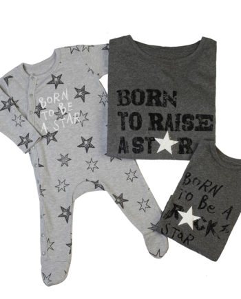 T-Shirt Combo Born To Raise A Star - Born To Be A Rock Star - Born To Be A Star