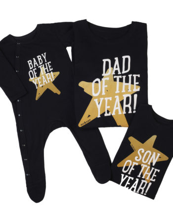T-Shirt Combo Dad Of The Year - Son Of The Year - Baby Of The Year
